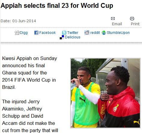 加纳公布23人最终大名单 米兰双星领衔入列