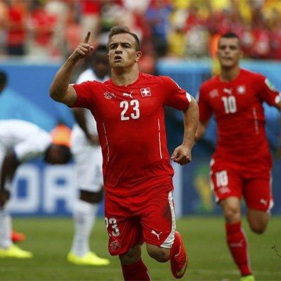 瑞士3-0洪都拉斯晋级 沙奇里帽子戏法