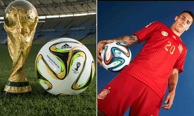 阿迪达斯公布世界杯决赛用球 大力神杯赐灵感