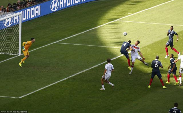 法国0-1德国 全场进球精彩集锦(组图)
