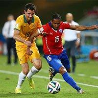 高清:智利3-1澳大利亚 博塞茹尔锁定胜局