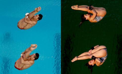 里约跳水池水颜色现巨变 网友:风油精撒多了