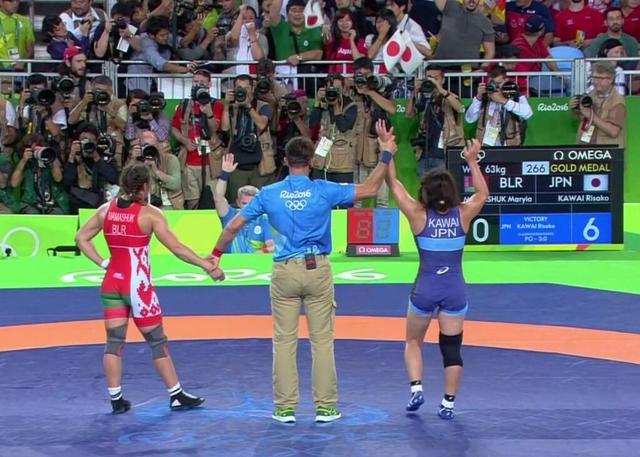 63公斤级川井夺冠 日本收获其女子摔跤第4金