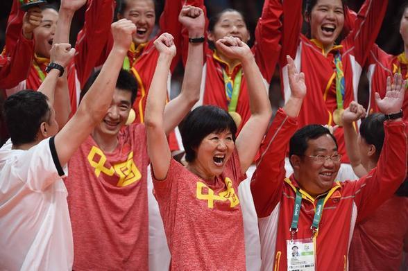 中国女排三夺奥运金牌 郎平圆梦里约奥运会