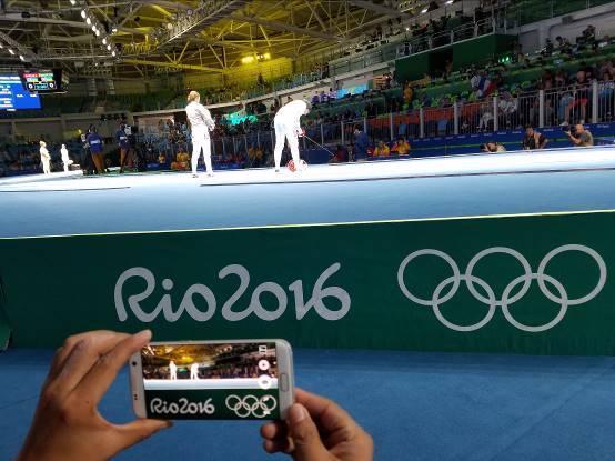 奥运体操冠军邹凯探访里约 与你分享击剑故事