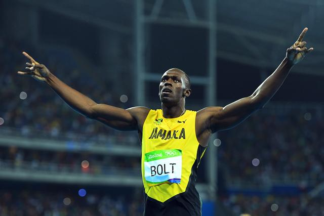 三连冠!博尔特200米夺金 获个人奥运第八金