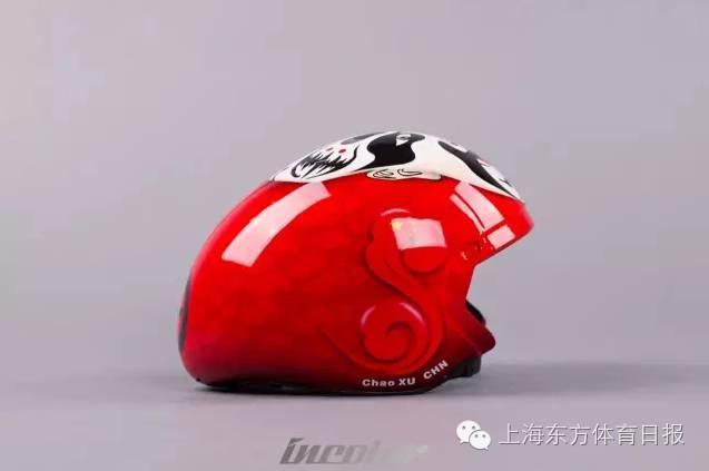 """中国国粹扬威里约 自行车""""脸谱头盔""""这么来"""