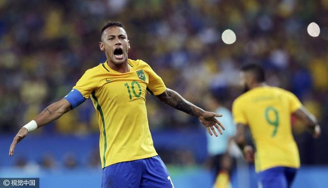 男足-巴西点球6-5德国 内马尔助巴西首夺金牌