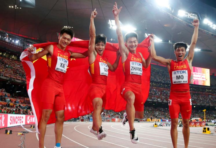 4x100米中国临阵换人 莫