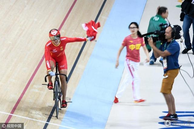 终弥补4年前遗憾 中国姑娘夺自行车亚洲首金