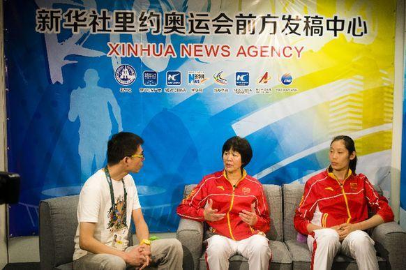 郎平、朱婷接受新华社记者专访