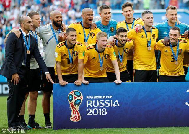 比利时2-0英格兰 获世界杯季军创历史最佳 阿扎尔破门
