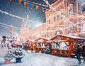 宁静与魔幻 大雪纷飞的绚烂莫斯科
