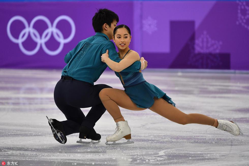 来自日本的iu Suzaki和Ryuichi Kihara .-高清 冬奥花滑双人短节目 精