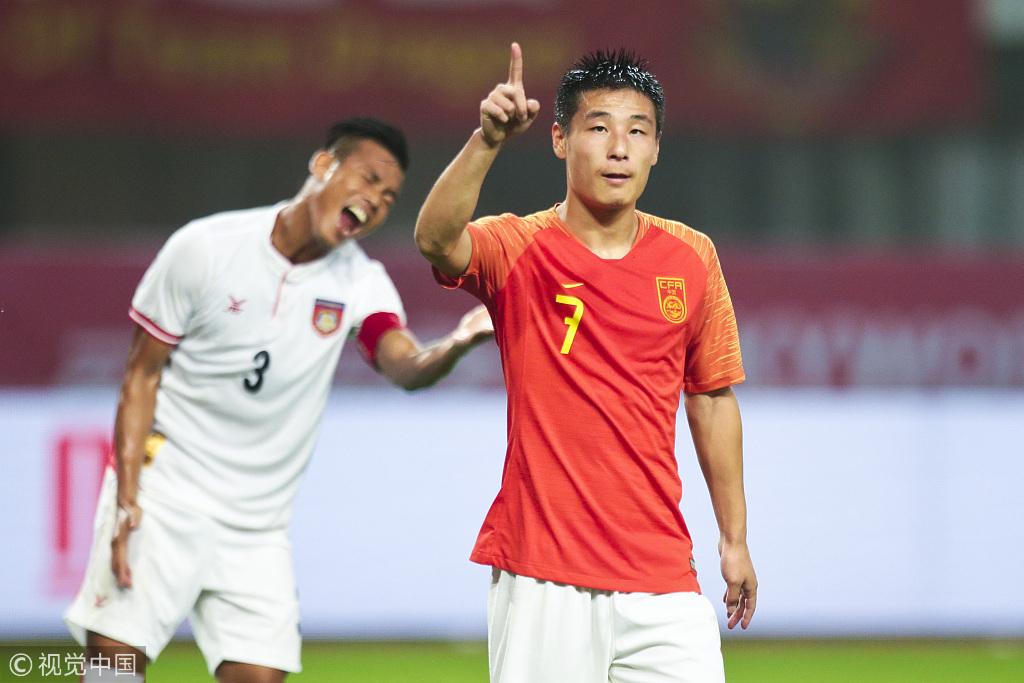 高清:中国1-0战胜缅甸 武磊破门黄紫昌表现抢眼