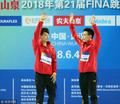 高清:跳水世界杯男双10米跳台 陈艾森杨昊夺冠
