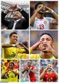 高清:把你的心我的心串一串!比心庆祝风靡世界杯