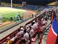 高清:亚运会女足头名之战引关注 龙之队到场助威