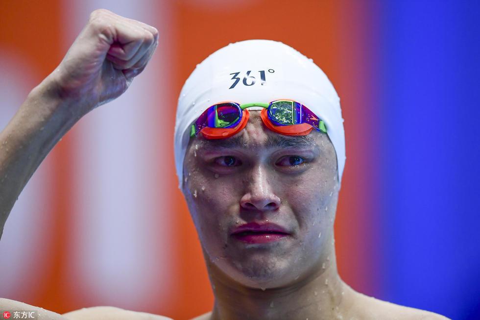 实现了该项目亚运三连冠.赛后孙杨激动落泪,或许更多是因为体力