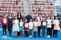 组图:中网小画家现身赛场 中央球场内接受嘉奖