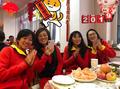 组图:备战联合会杯 中国网球队大使馆里体验年味
