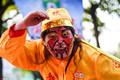 """高清:中国球迷扮""""美猴王""""现身中国杯赛场外"""