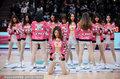 高清:篮球宝贝助阵八强战 粉红装扮尽显可爱