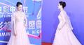 组图:吴敏霞出席上海电影节 一袭长裙温婉动人