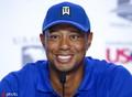 高尔夫美国公开赛 伍兹领衔出席新闻发布会展亲和微笑