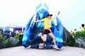 特步企鹅跑上海站互动游戏欢乐多 现场红蓝Buff受欢迎