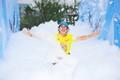 特步企鹅跑杭州站跑者特写:满脸喜悦冲向终点