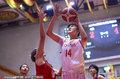 中国女篮热身赛胜日本