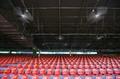 高清:马尔代夫国家体育场赛前准备工作 场内风扇降温
