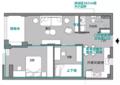 58㎡两居一点不挤 还在客厅增添1.8m宽榻榻米!