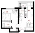 47㎡简约风小户型公寓 舍弃客厅让整个家更实用