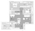 118㎡两室两厅 蒸汽灰+低饱和度色彩复古又简约