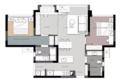 93㎡现代风小户型二居室 舍弃电视背景墙更显宽敞
