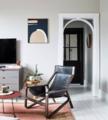 63㎡两室巧用水磨石+黄铜元素 舒适又精致!