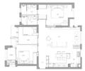 95㎡三室 儿童房房门对着客厅温馨舒适提升安全感