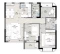 69㎡三室 活力珊瑚色打造温柔放松家居空间!