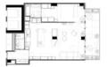 92㎡一室一厅 客厅、厨房这样设计空间更显大!