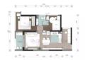 79㎡现代风二居室 紧凑老房变成宽敞小窝