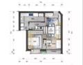 63㎡二居室 利用客厅和阳台挤出一个书房兼次卧