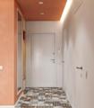 55㎡一居室 橘色系+几何灯带打造梦幻又温馨的家