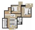 83㎡两房改三房 利用餐厅改造出迷你榻榻米卧室