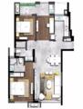 108㎡三室 简洁空间配上雅致软装舒适又大方