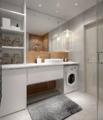 5㎡的卫生间怎么放洗衣机?20多个设计方案 显高级
