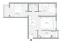 90㎡两室 化繁为简的空间朴素自然还省钱!