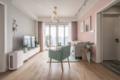 80㎡两室粉色调与浅灰色组合 恬淡浪漫又简约舒适
