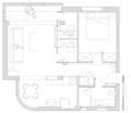 51㎡小公寓挤出两间小书房 开放式布局宽敞又明亮